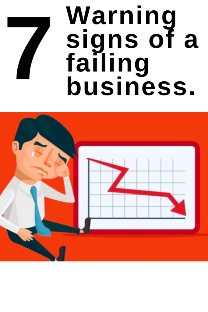 7 Warning Signs  of a failing  business